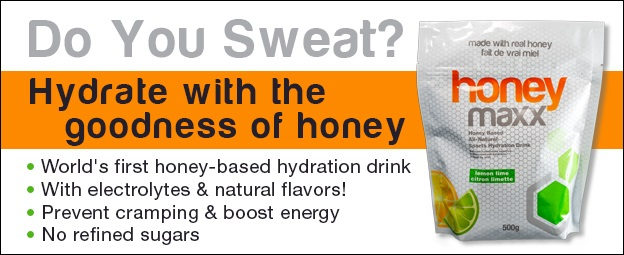 Read more about HoneyMaxx, the world's first honey-based sport and electrolyte drink.
